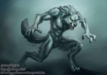 White werewolf by J-C