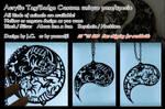 Acrylic Tag/Badge- custom your own kind by J-C