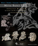 Wolf metal badge pin by J-C