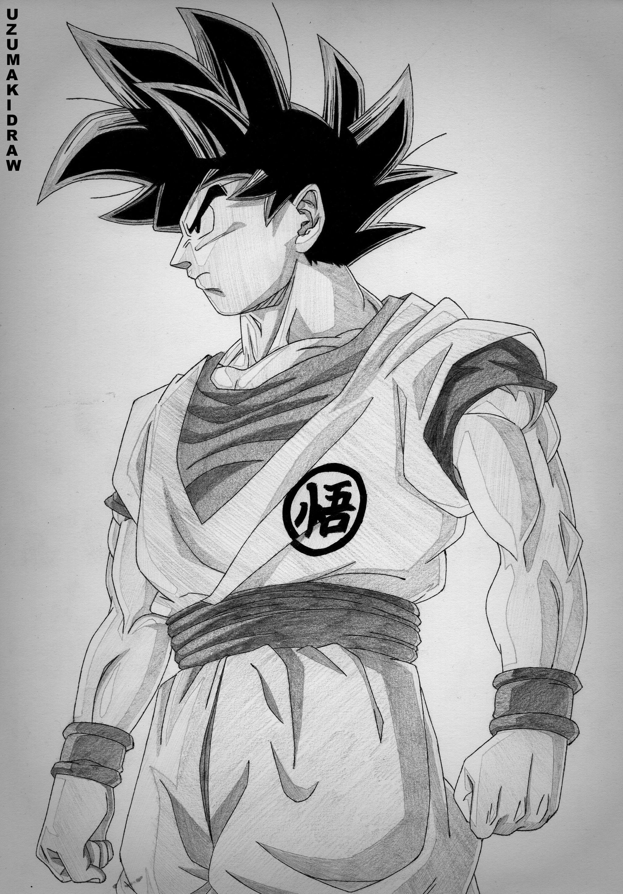 Goku ultra instinct by uzumakidraw on deviantart - Goku ultra instinct sketch ...
