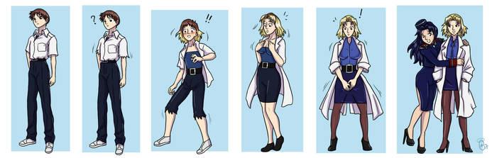 Shinji to Ritsuko TG Transformation by kittymellow