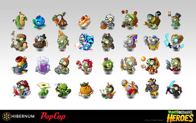 Plants vs Zombies Heroes Characters by Kristele