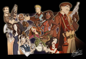 The crew of Serenity by Kristele