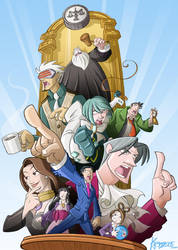 Homage to Phoenix Wright by Kristele