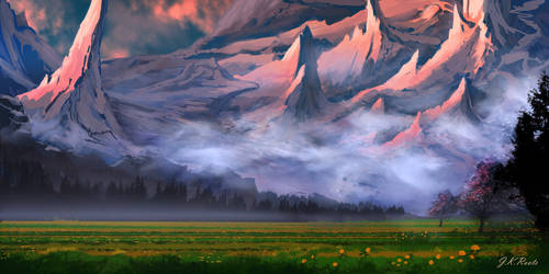 Dusk Valley by JKRoots