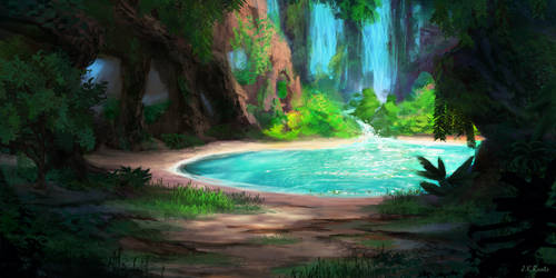 Hidden Lagoon by JKRoots