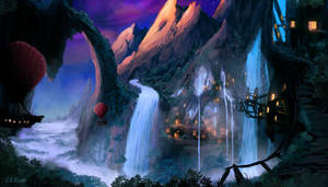Waterfall City by JKRoots