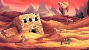 Desert Ruins by JKRoots