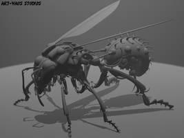 Wasp Mech by ART-HAUS-STUDIOS