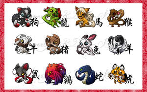 Chinese Zodiac by snowkatt101
