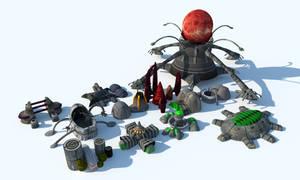 Martian Buildings by Mr-Nike