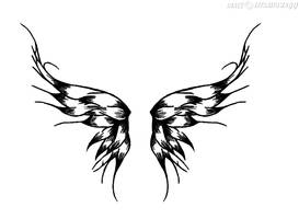 Wings Tattoo by satanspawn80