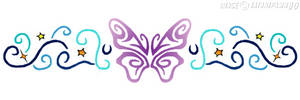 Butterfly Wristband Tattoo by satanspawn80