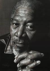 Morgan Freeman by Mark-Anstis