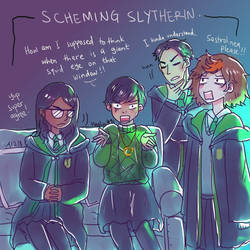 HPHM: Year 1- In Slytherin Common Room by LiniAriva