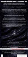 Photoshop black hole gravitational lens tutorial by ArcherBlack