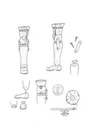 Carpi's leg prosthesis by miawell1990