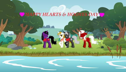 Happy Hearts and Hooves Day by Cyber-Hooves