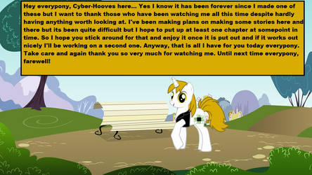 I'm still here by Cyber-Hooves
