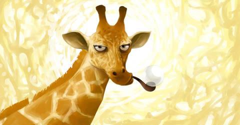 serious giraffe by roboGeorge