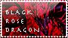 Black Rose Dragon Stamp by TheLastHetaira