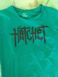 Hatchet band handpainted tee by EvelinaAuditore