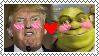 Donald Trump X Shrek stamp by Diamond-waterfalls