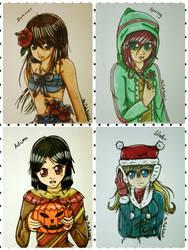 4_Seasons by ThePinkRabbits