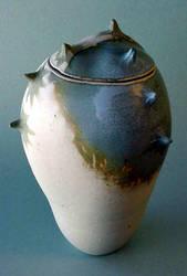 Blue Grey Spike Jar 2 by sbleecker
