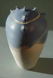 Blue Grey Spike Jar 3 by sbleecker