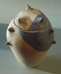 Blue Grey Spike Jar 4 by sbleecker