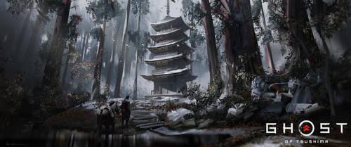 Ghost of Tsushima - Pagoda by iancjw