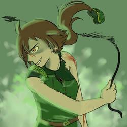 Green crazy rage by Biruchi
