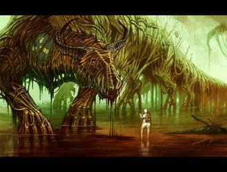 Nuclear Fallout Dragon by MinnaSundberg