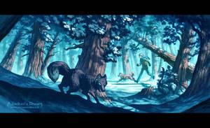 Blue Forest by MinnaSundberg