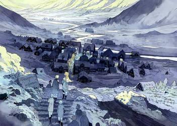 Reynir's Village by MinnaSundberg