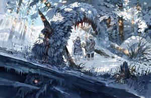 Snow Serpent by MinnaSundberg