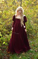 Maroon dress by AngelaClaytonCosplay