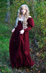 Maroon dress II by AngelaClaytonCosplay