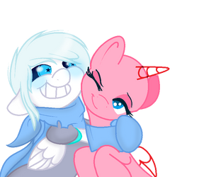 I'm Gald Cause You're My Pony US!Sans x OC Collab by SnowySeal