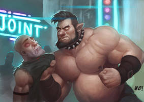 Bouncer in action by njay