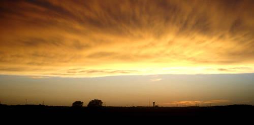 Sky A-fire by DJStrife