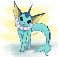 Vaporeon (practice) by Definisher