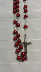 Red rosary by rosariesbyclarissa