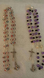 Rosary style neclaces by rosariesbyclarissa