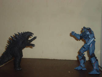 Godzilla Vs Gypsy Danger by gio0397