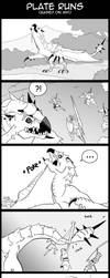 Monster Hunter Comic Plate Runs by macawnivore