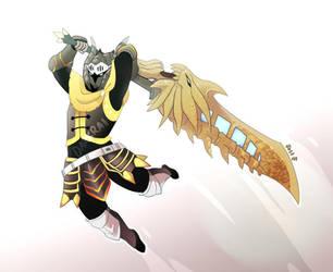 Monster Hunter Commission - Darkrai by macawnivore