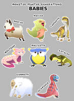 Monster Hunter Generations Babies by macawnivore