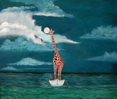 Sleeping giraffe by WilliamSnape